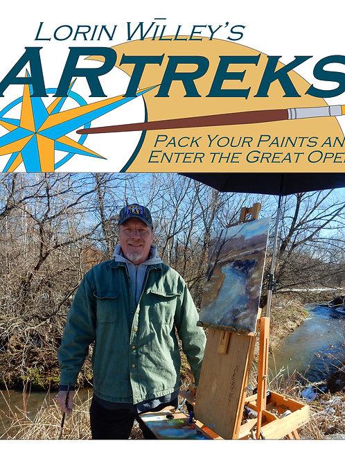 2020 Lorin Willey's ARTREKS Painting Adventures-Plein Air Oct. 30-Nov. 1