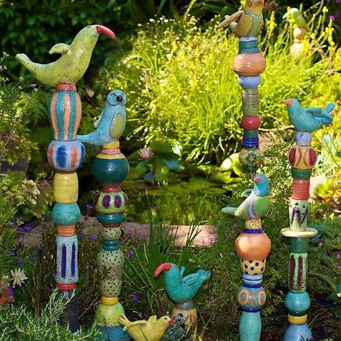 Ceramic Garden Totems July 27 – 28, 2019