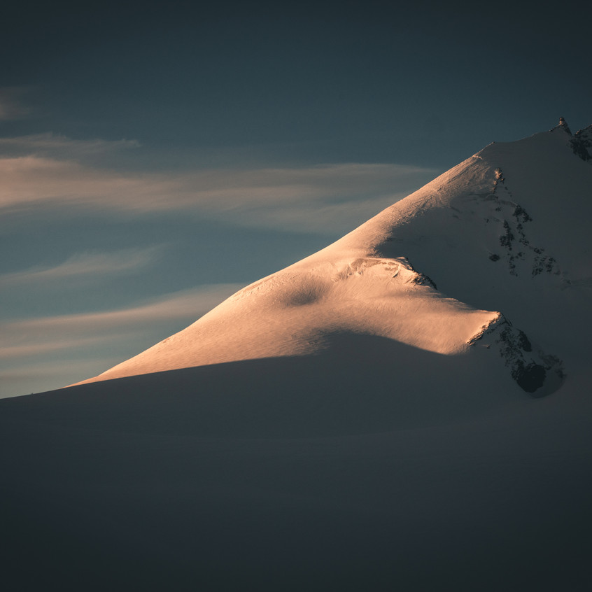 Allalinpass mit 2 Alpinisten