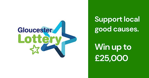 Gloucester Lottery. Support local good causes. Win up to £25,000