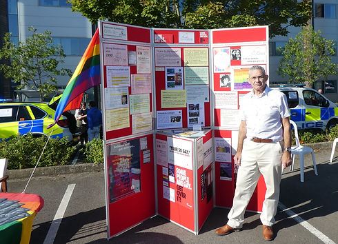 Robin at the Police Open Day with the GayGlos information stand.jpg