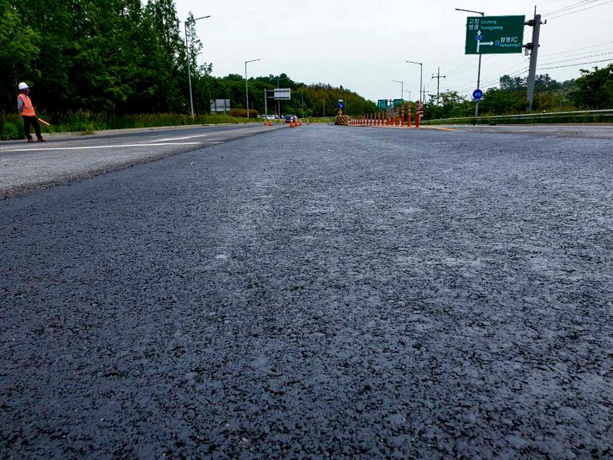 국도1호선 함평군 학교면 사거리 등 2개소 현장재생 포장도 보수공사
