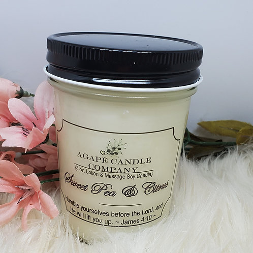 Sweet Pea & Citrus - Lotion & Massage Candle