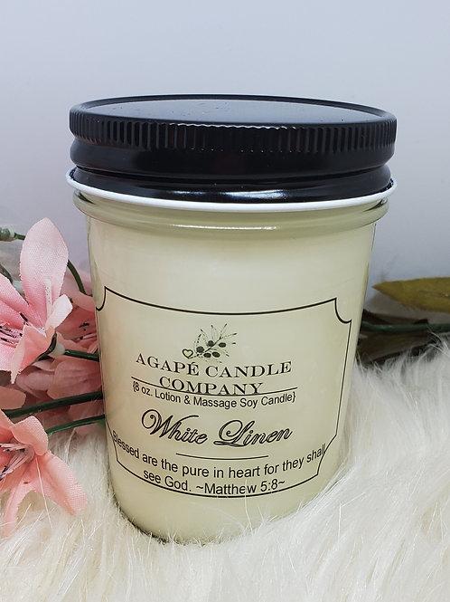 White Linen - Lotion & Massage Candle