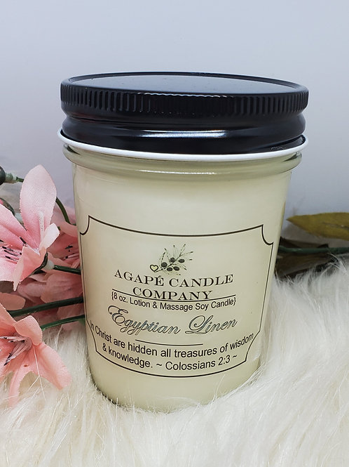 Egyptian Linen - Lotion & Massage Candle
