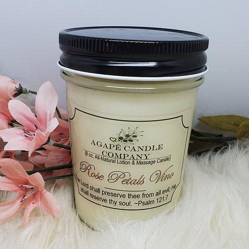 Rose Petals Vino - Lotion & Massage Candle