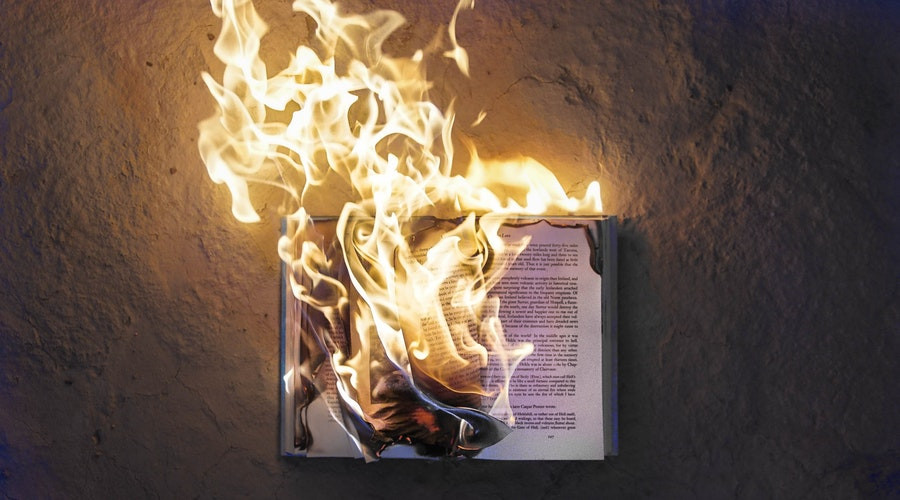Burning Book by Fred Kearney