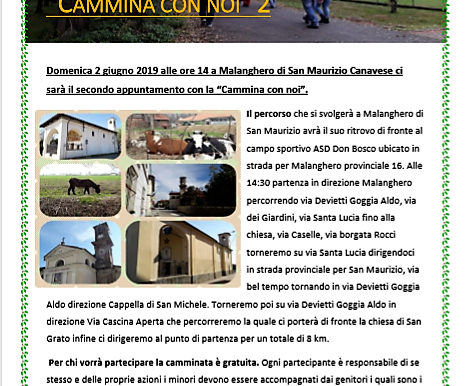 "Vivisanmaurizio organizza:     ""Cammina con Noi"" 2"