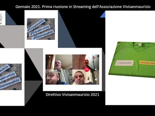 Gennaio 2021 prima riunione del Direttivo dell'Associazione Vivisanmaurizio