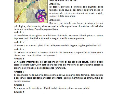 Nuova Carta dei Diritti della Bambina anche il comune di San Maurizio Canavese aderisce