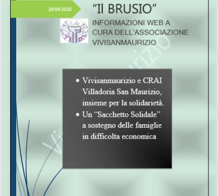 """Vivisanmaurizio e CRAI:Un """"Sacchetto Solidale"""" a sostegno delle famiglie in difficolta economica."""