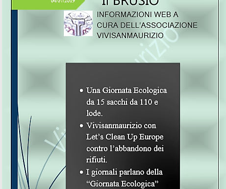 """23 giugno 2019. Una """"Giornata Ecologica da 15 sacchi da 110 e lode"""