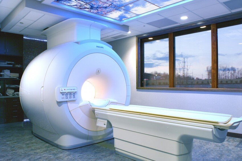 Your typical MRI machine will look something like this. Mine was on a truck!
