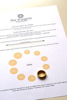 flor d'argent barcelona - guía de tallas