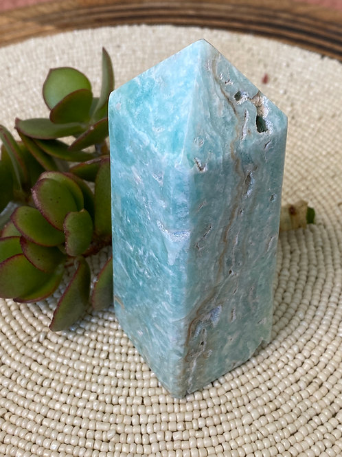 Blue Aragonite Pillar -4