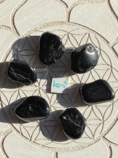 Black Tourmaline 6 Piece Grid Set - 3