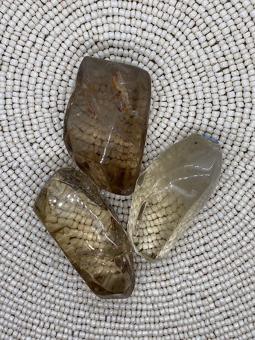 Smokey Quartz Faceted Tumble (each)