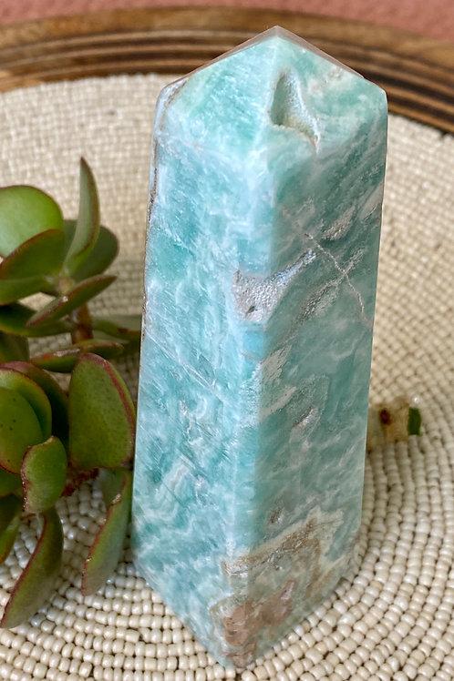 Blue Aragonite Pillar -6