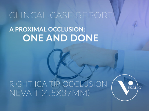 A Proximal Occlusion: One and Done - Case Report