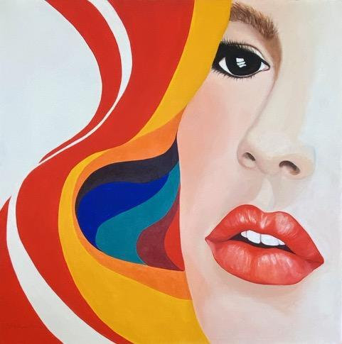 """""""Girl With Scarf"""" by Linda Atkins"""