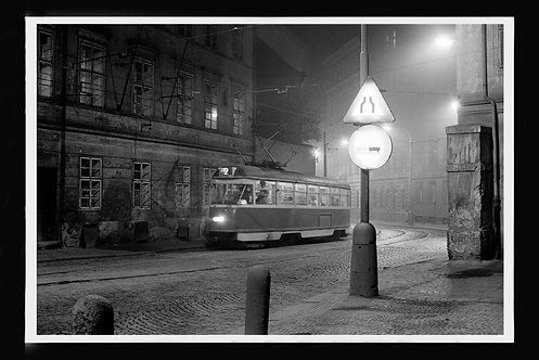 """""""Street Car In Communist Ruled Prague, ca 1977"""" by Gregg Felsen"""