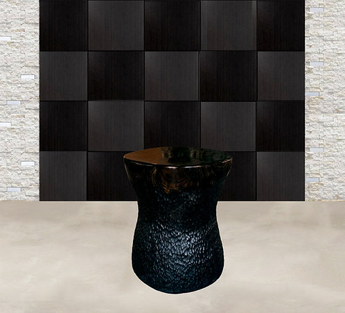 Black Pine Sculptural Accent Table by Daniel Pollock