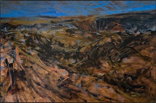 Abstract Expressionist Landscape by Jose Ignacio Maldonado (1952-2017)