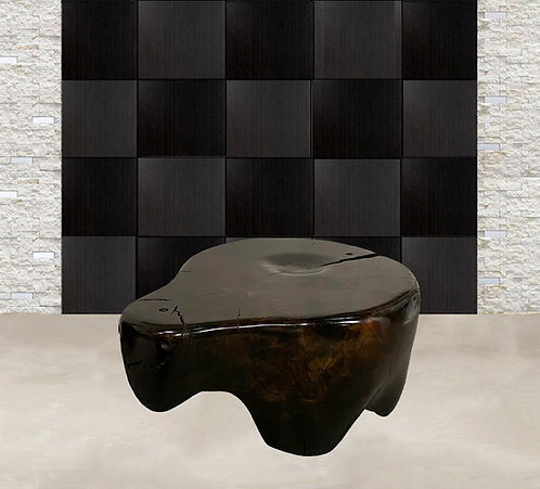"""Ebony Cottonwood"" Sculptural Table By Daniel Pollock"