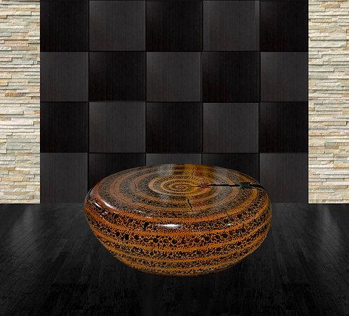 Aged Sugar Pine Sculptural Table by Daniel Pollock