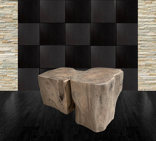 Spalted Elm Sculptural Nesting Tables by Daniel Pollock