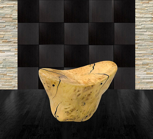 Maple Sculptural Accent Table by Daniel Pollock
