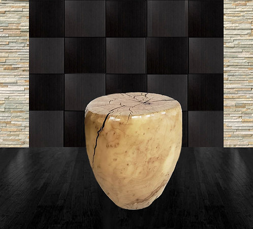 Maple Sculptural Side Table by Daniel Pollock