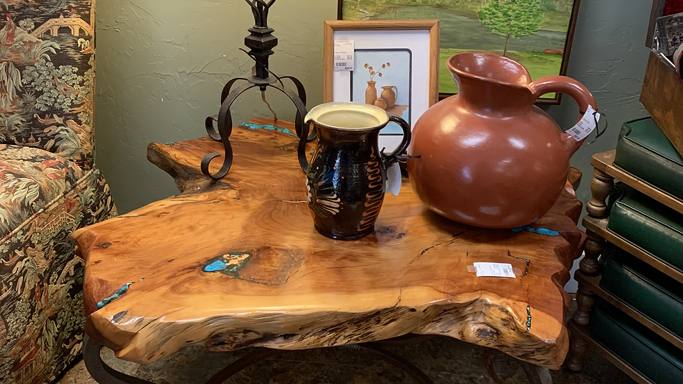 Turquiose & Copper Inlay Coffee Table ***SOLD***