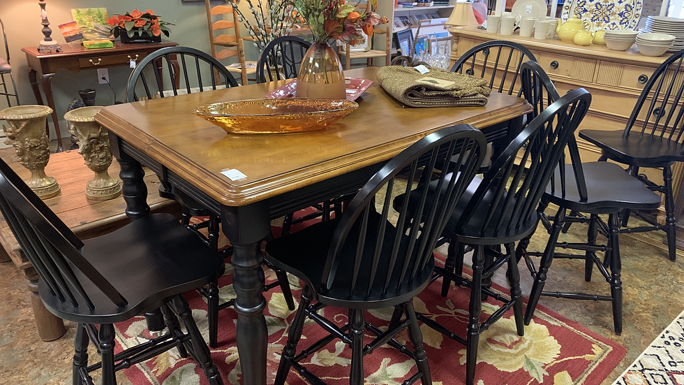 TEI Pub Ht. Dining Table with 8 Chairs **SOLD**