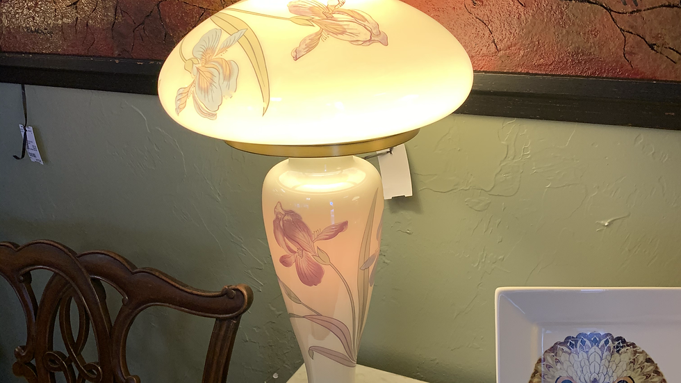 Vintage Glass Iris Lamp