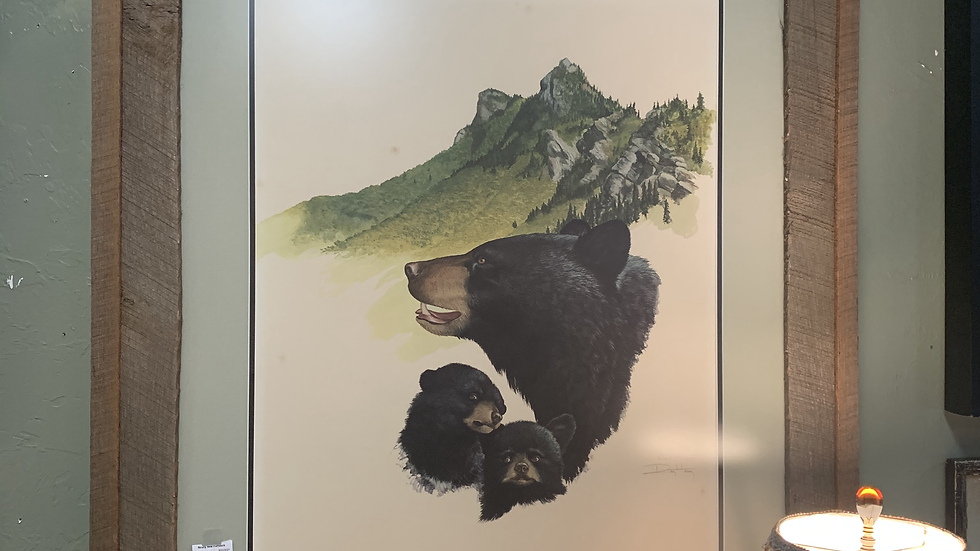 Signed LE Ray Harm Black Bear Print