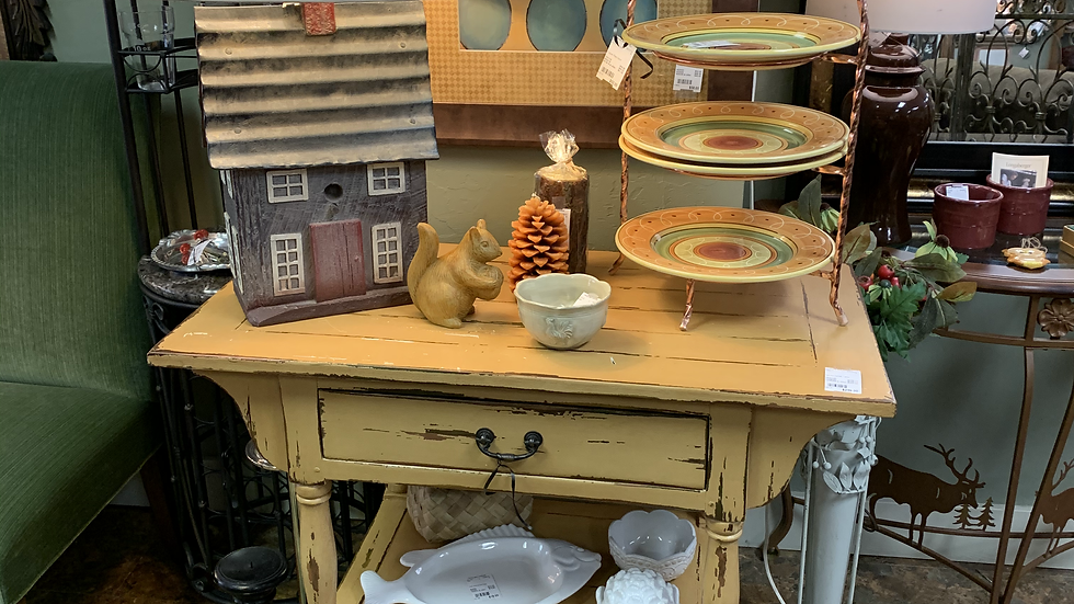 Yellow Painted Serving Table ***SOLD***