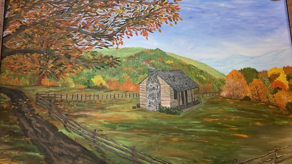Original Farm House Oil Painting