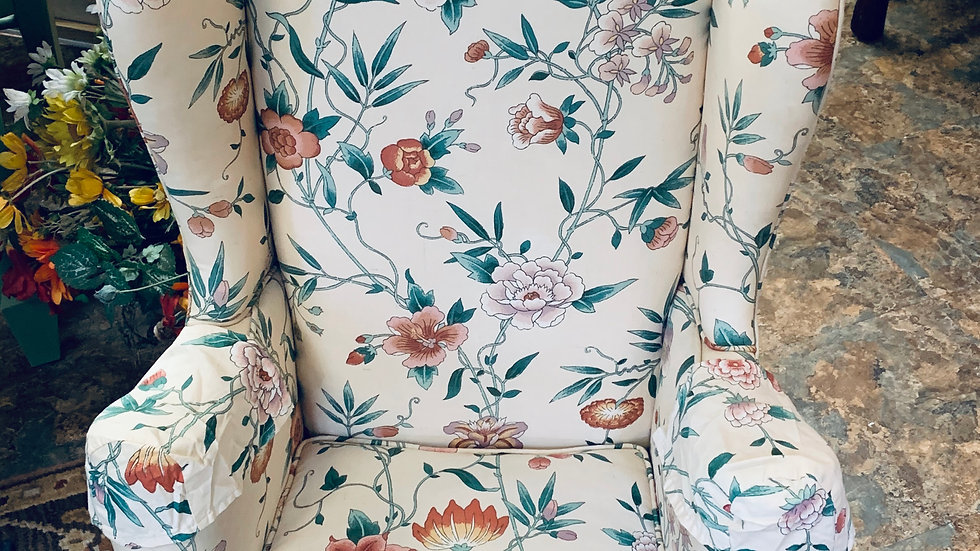 Upholstered Vintage Sample Chair **SOLD***