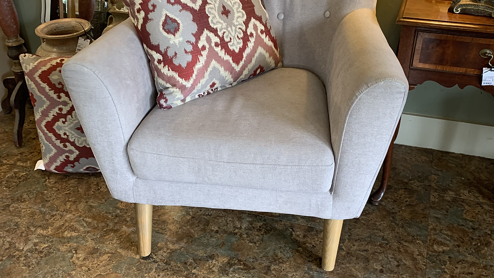 Gray Upholstered Chair