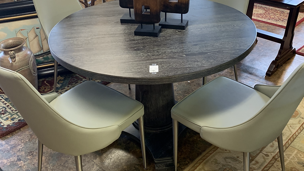 Modern Round Table with 4 Chairs