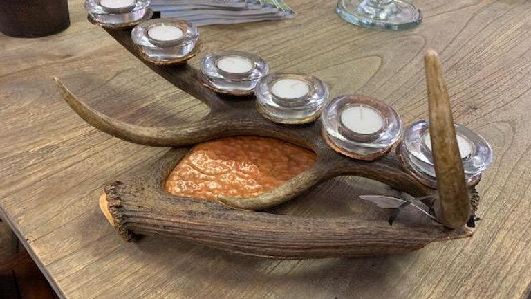 Copper & Antler Candle Holder ***SOLD***