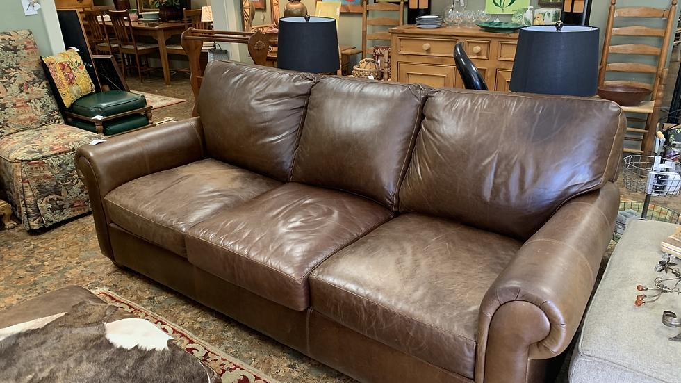 USA Premium Leather Co. Sofa ***SOLD***