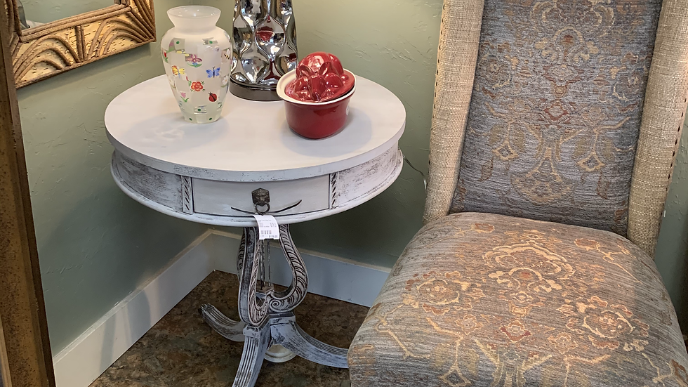 Vintage Harp Style Side Table