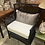 Thumbnail: SET/2 Black Rattan Side Chairs