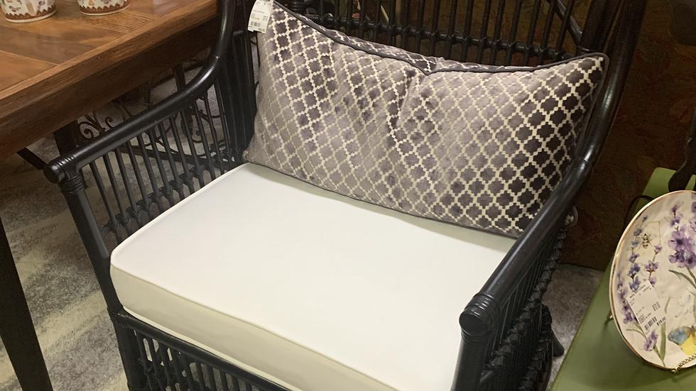 SET/2 Black Rattan Side Chairs