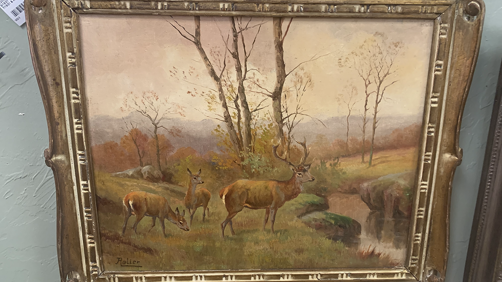 Antique Painting by 19th Century Artist Rolier