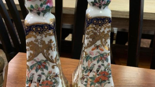 Pair of Asian Candle Holders