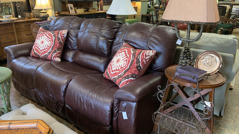 Lazy Boy Leather Power Recliner ***SOLD***