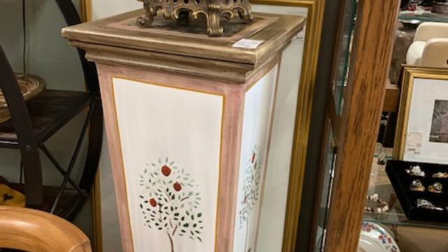 Painted Pedestal Stand